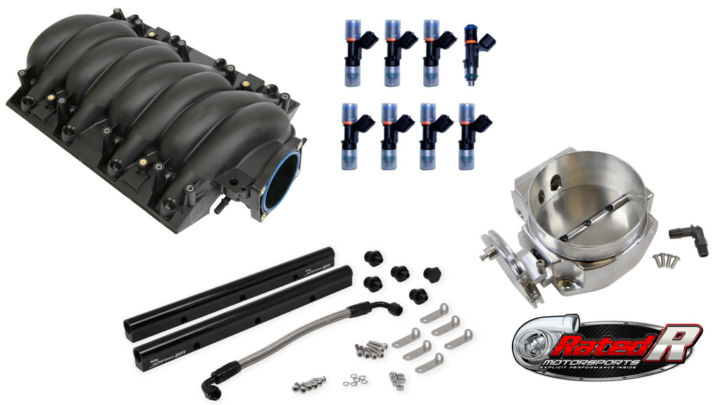 Rated R Motorsports LS1 LS6 90mm GM OE Intake Manifold Kit With Fuel Rail & Throttle Body