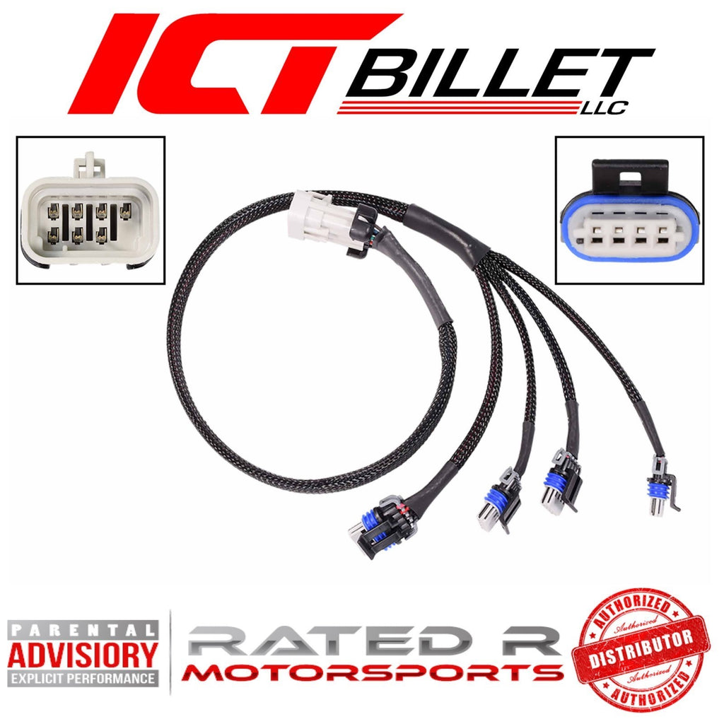 "ICT Billet LS2 LS3 30"" Inch Coil Wire Harness Extension for Remote Mount Coils (1 Piece)"