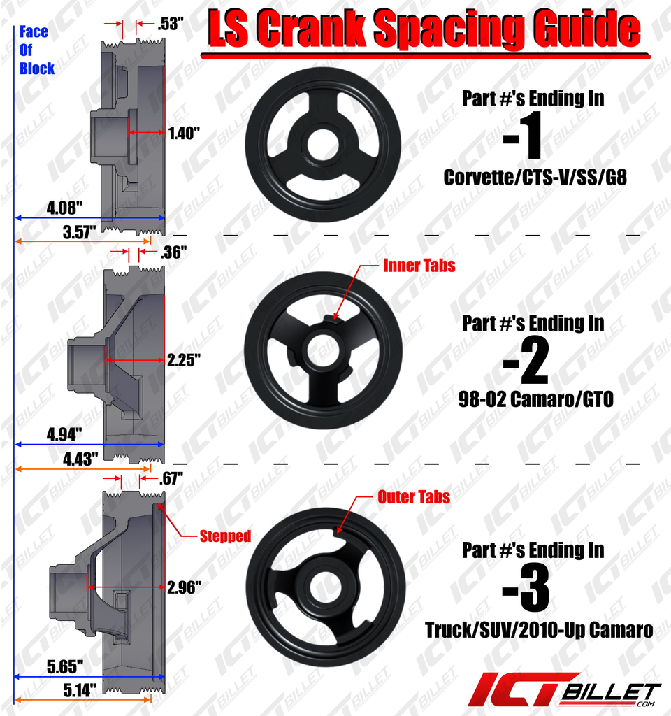 AC Delco LS Truck Spacing Harmonic Balancer Pulley