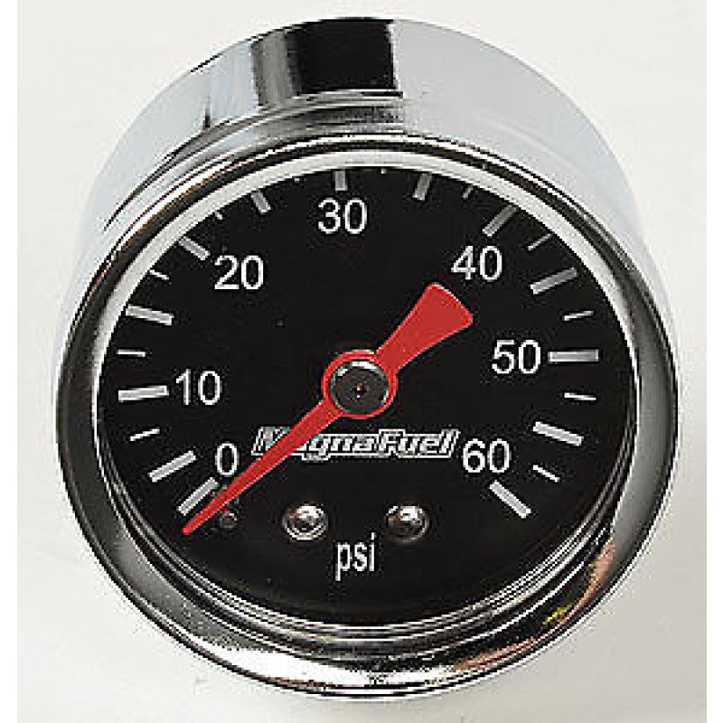 Magnafuel 0-60psi Fuel Pressure Gauge (black)