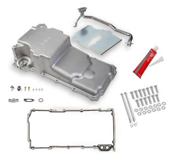 Holley LS Retro Fit Oil Pan Kit Additional Front Clearance