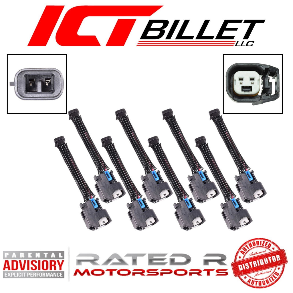 ICT Billet Wire Harness Adapter for Mini Delphi Multec 2 Harness to USCAR EV6 Fuel Injectors