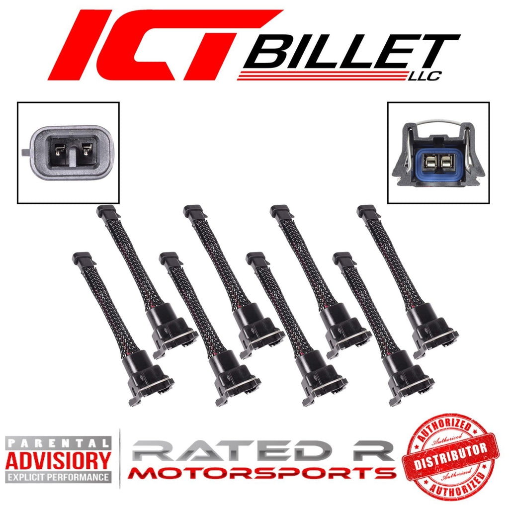 ICT Billet Wire Harness Adapter for Mini Delphi Multec 2 Harness to Jetronic EV1 Fuel Injectors