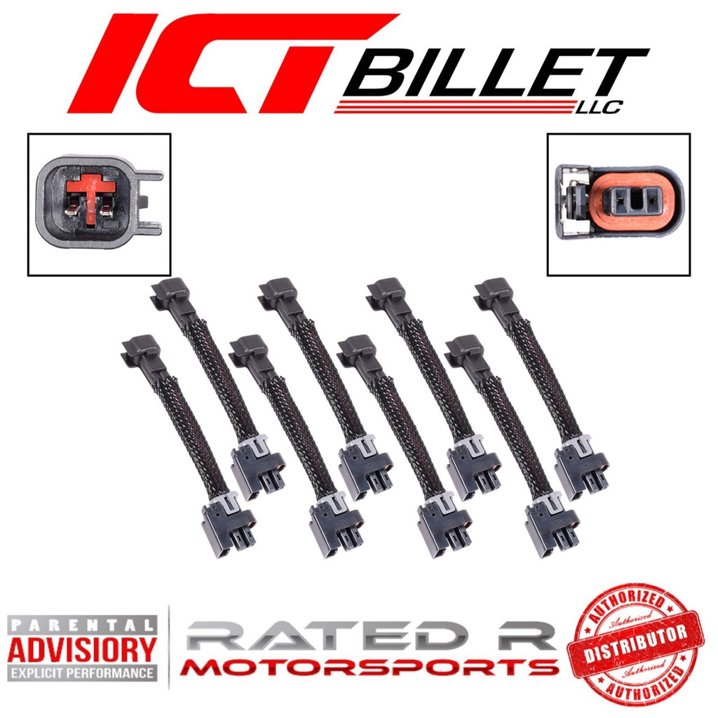 ICT Billet Wire Harness Adapter for USCAR EV6 to Mini Delphi Multec 2 Fuel Injectors