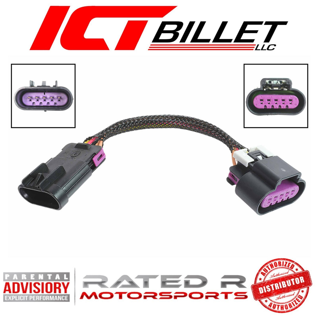 ICT Billet Wire Adapter Harness Mass Air MAF LS Gen 4 Truck Tube Style to LS3 Card Style