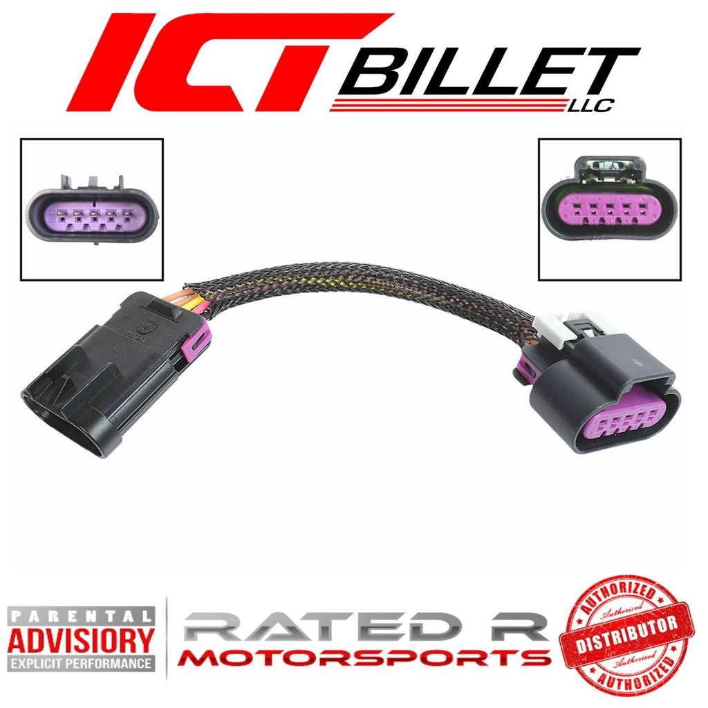 ICT Billet LS Gen 4 Truck Card Style to LS3 Card Style Mass Air MAF Adapter Harness