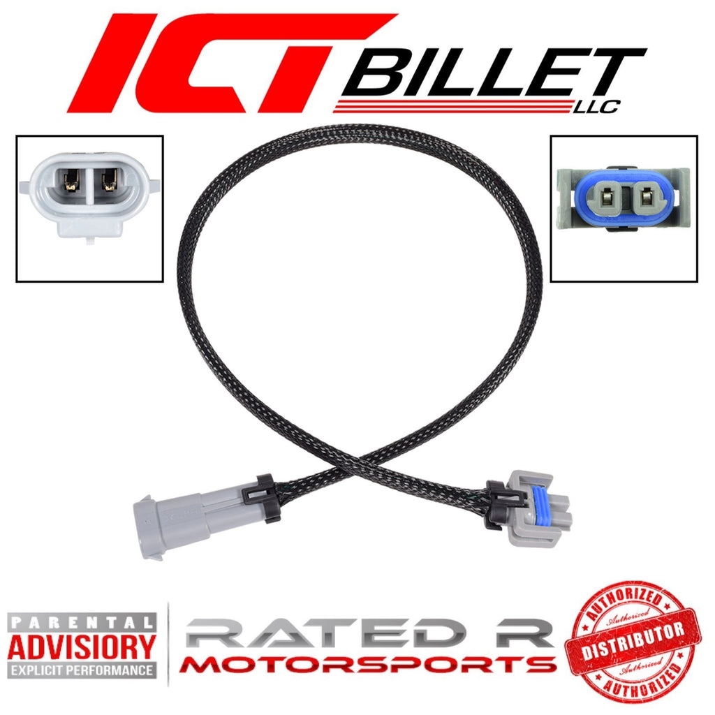 "ICT Billet LS AC Compressor Clutch Wire Harness Extension 24"" Inch"