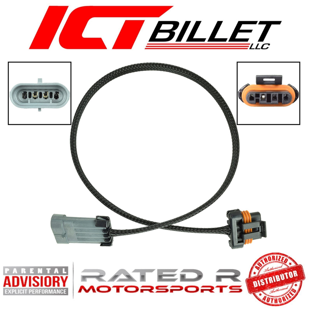 "ICT Billet Early LS Alternator Wire Harness Extension 36"" Inch (4 Pin Connector)"