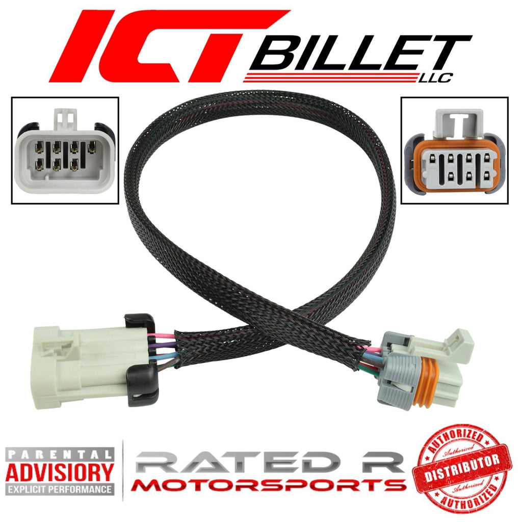 "ICT Billet LS Remote Mounted Coils Wire Harness Extension 24"" Inch"