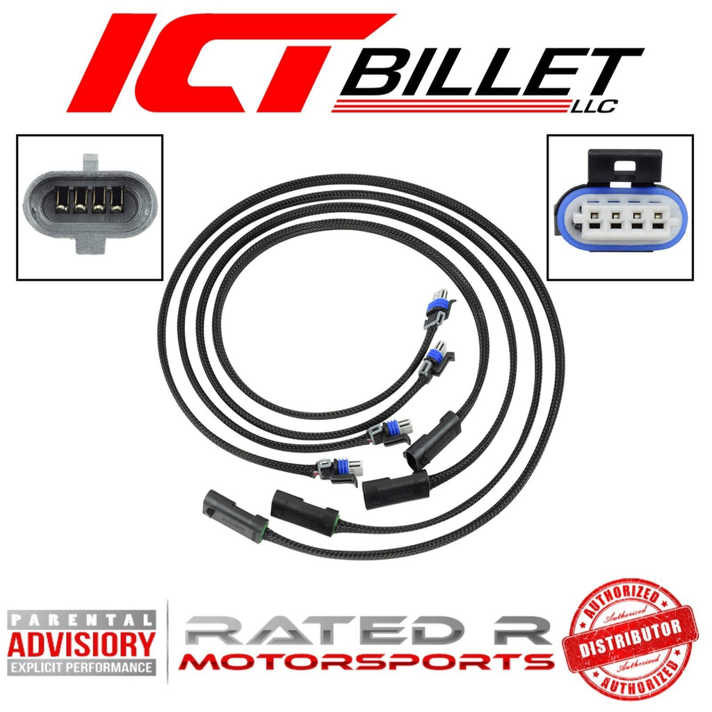 ICT Billet LSA-LT1 Coil Wire Harness Extension for Remote Mount Coils (4 Piece)