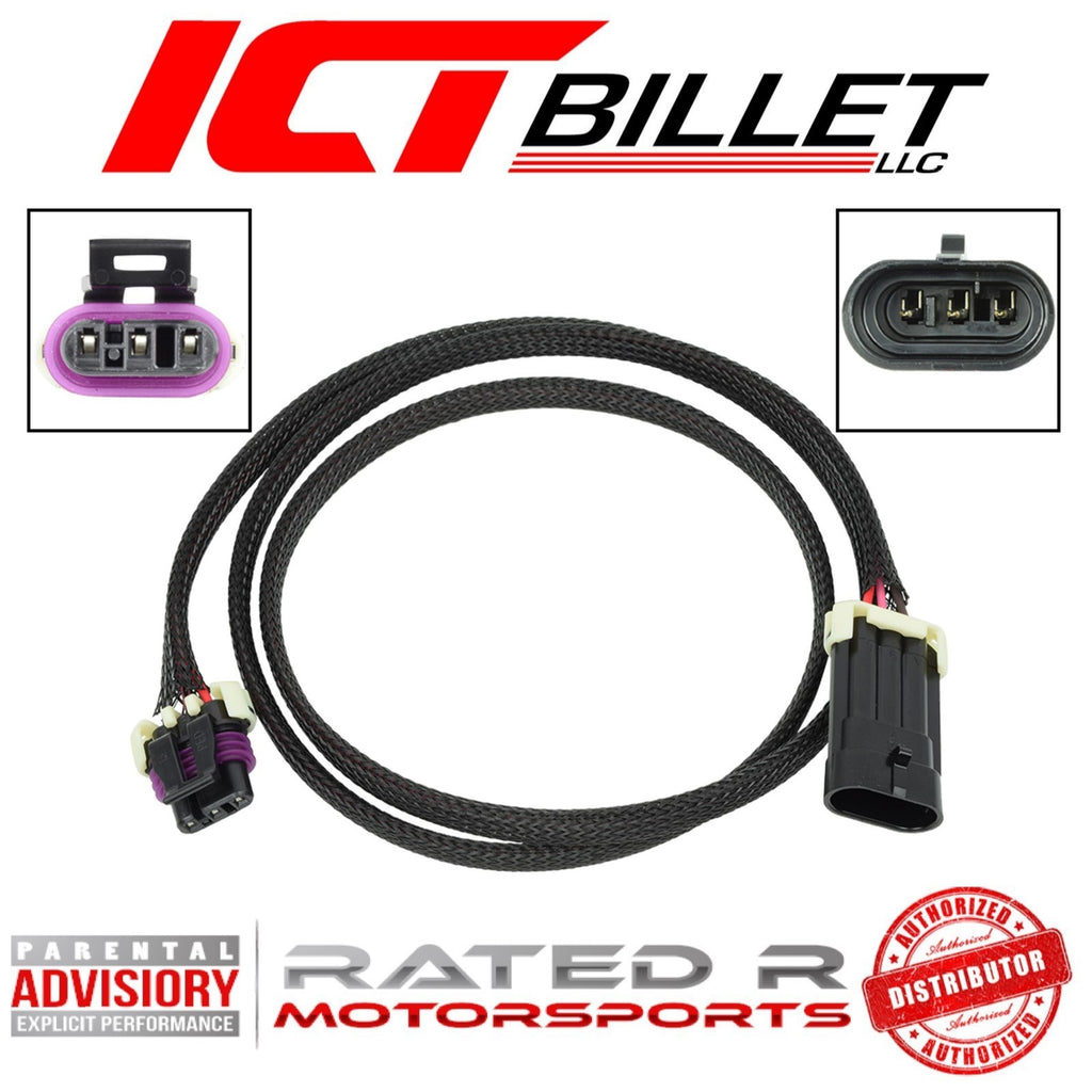 "ICT Billet LS CMP Camshaft Position Sensor Connector Wire Harness Extension 48"" Inch"