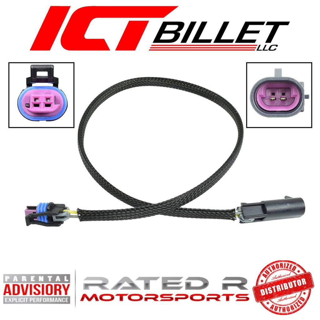 "ICT Billet LS 2 Wire Coolant Temperature Sensor Wire Harness Extension 36"" Inch"