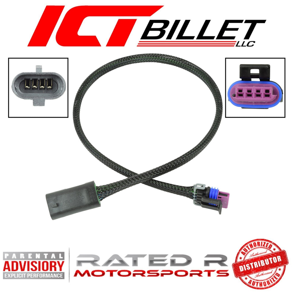 "ICT Billet LS Gen 3 Idle Air Control Valve IAC Wire Harness Extension 24"" Inch"