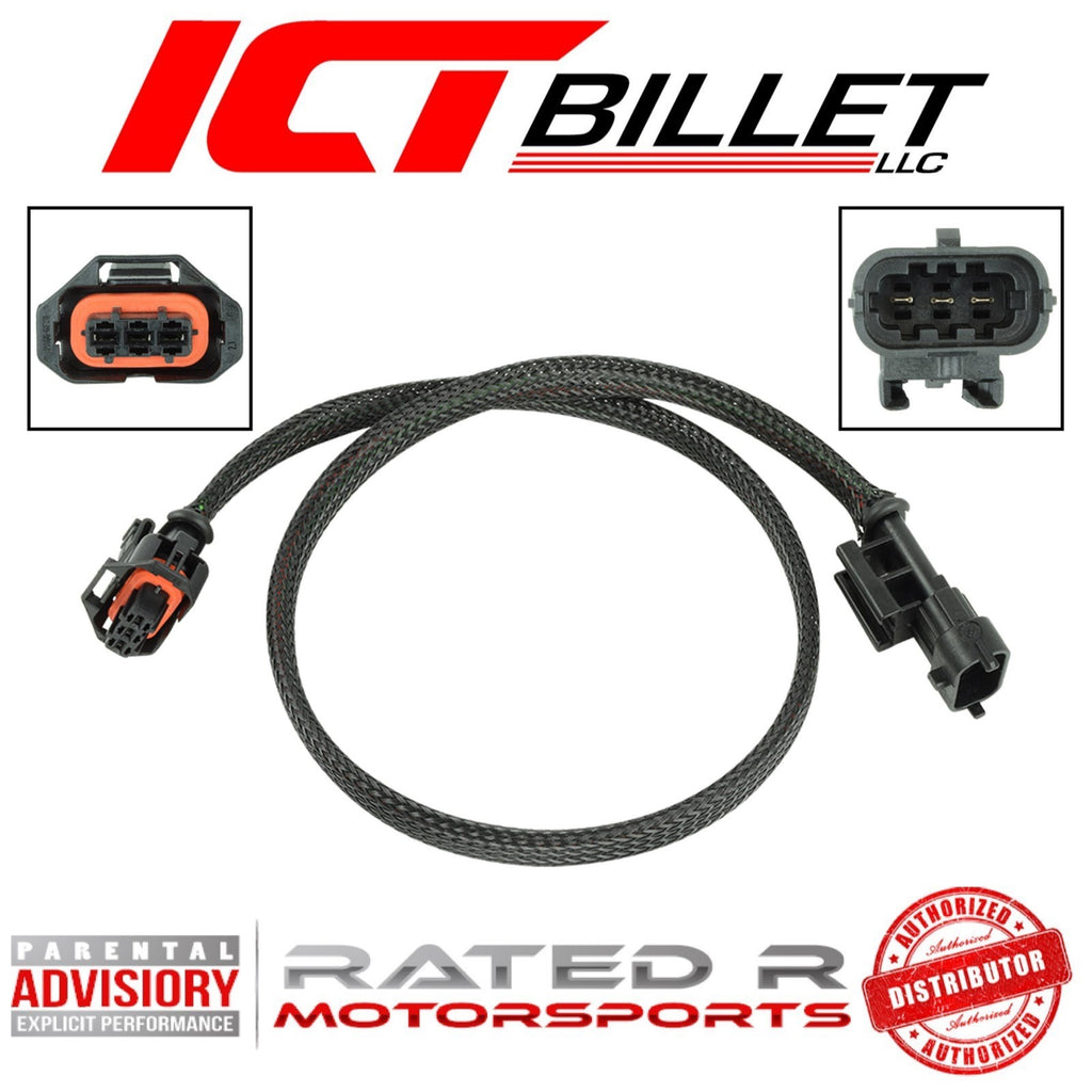 "ICT Billet Gen 4 LS MAP Manifold Absolute Pressure Sensor Wire Extension 24"" Inch"