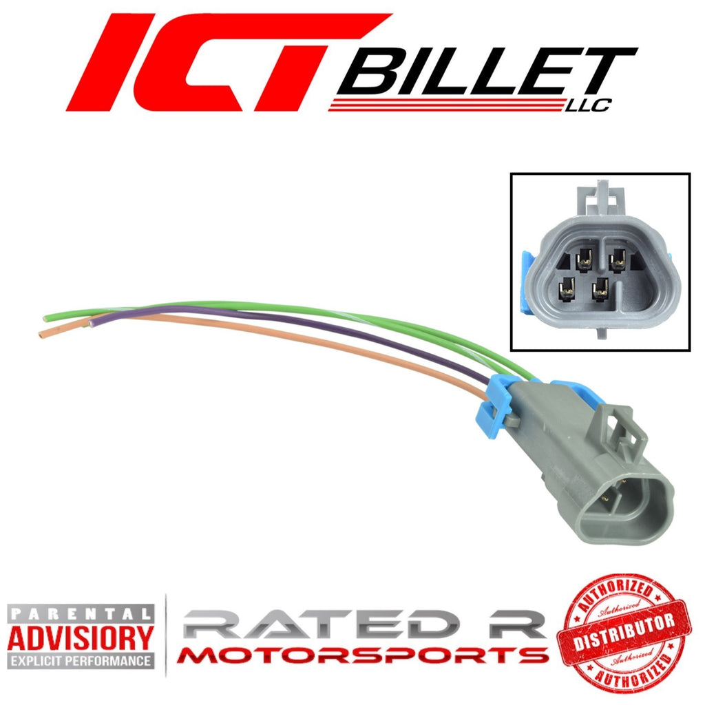 ICT Billet GM LS O2 Oxygen Sensor Trapezoid Male Connector Plug Pigtail