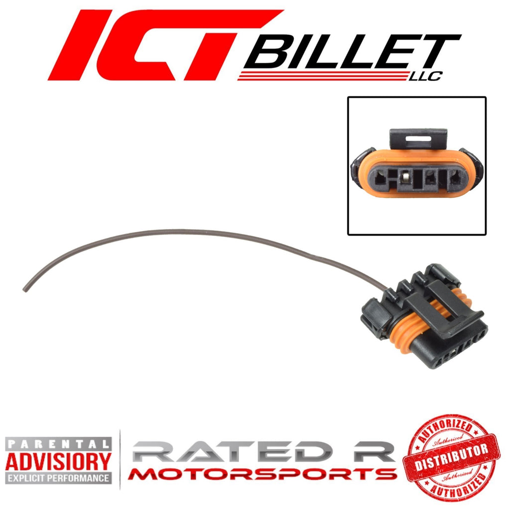 ICT Billet LS 4-Flat Alternator Wire Connector Pigtail Plug