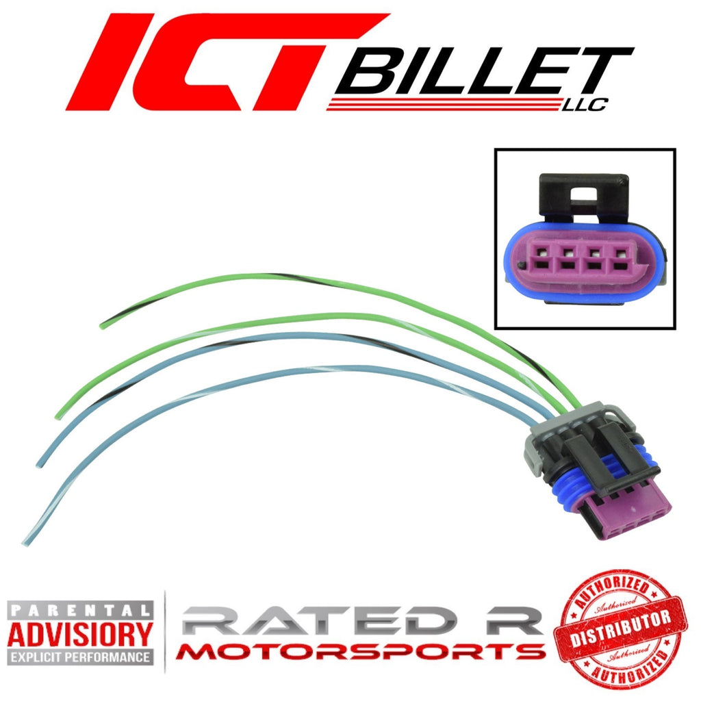 ICT Billet LS IAC 4-Wire Idle Air Control Valve Connector Harness Pigtail