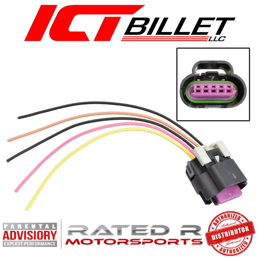 ICT Billet LS Gen 3 MAF Mass Air Flow Connector 5 Wire Harness Pigtail