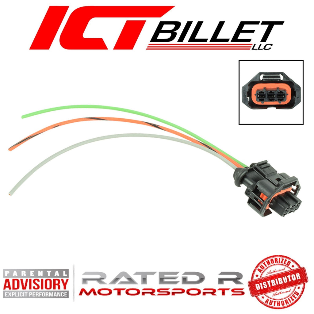 ICT Billet LS Gen 4 MAP Sensor Manifold Absolute Pressure Connector Plug Pigtail