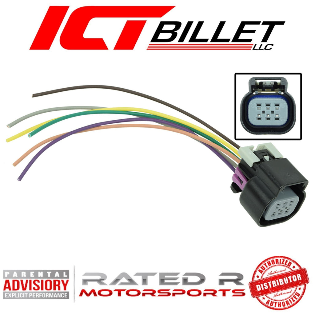 ICT Billet LS Gen 4 DBW 6 Wire Throttle Body Connector Harness Pigtail