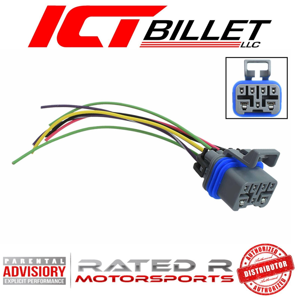 ICT Billet LS Transmission Neutral Safety Reverse Light Switch GM Automatic 4L60e 4L80e Wire Pigtail