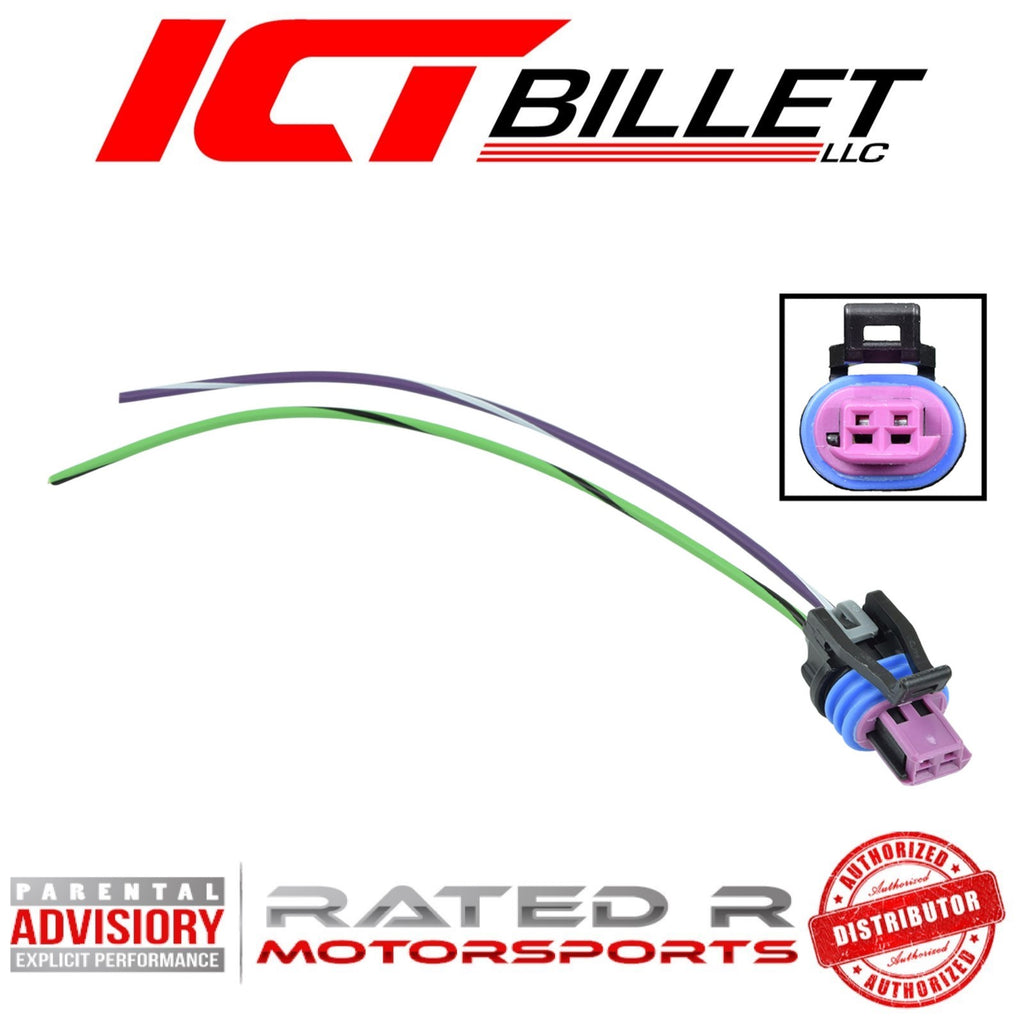 ICT Billet LS VSS Connector Vehicle Speed Sensor Harness Plug Pigtail T56 4L60e 4L80e