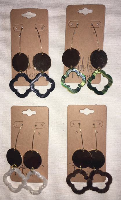 Quatrefoil Acrylic Earrings