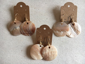 Vintage Oyster Earrings