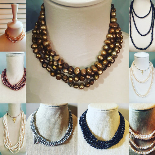 Multi-wrap Pearl Necklaces