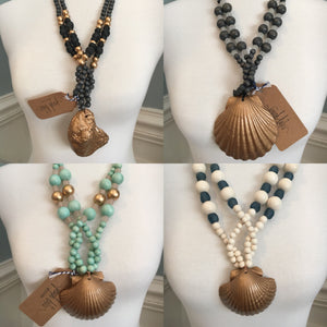 Wrap around shell necklace