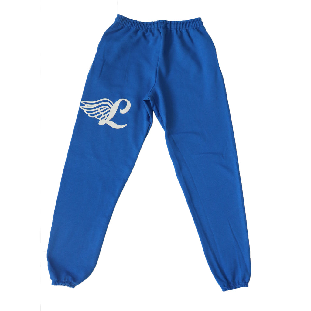 Wings Sweat Pants- Blue