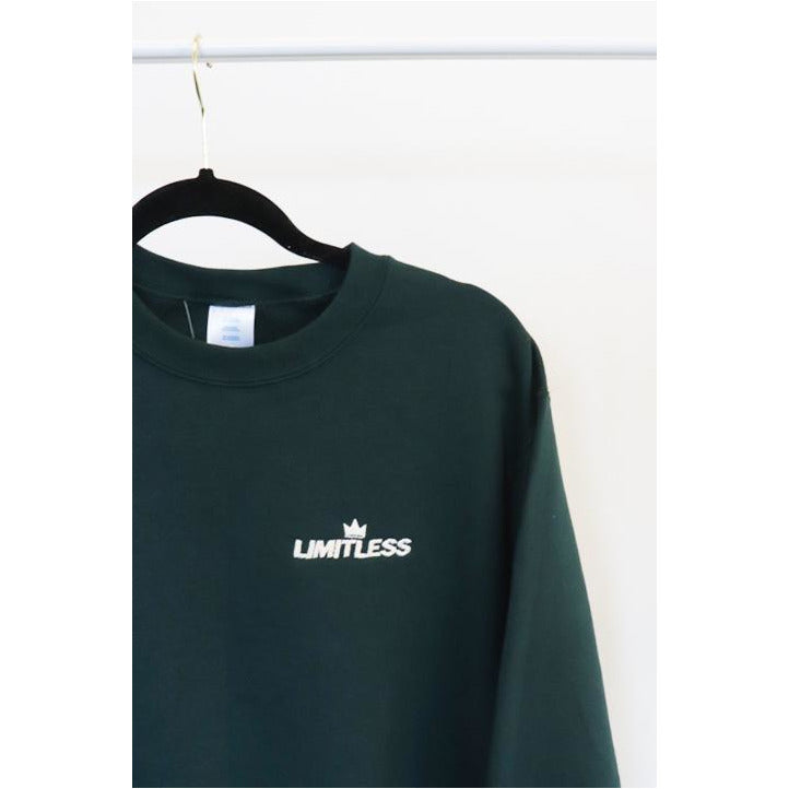 Forest Green Crew Neck Sweater - The Limitless Company