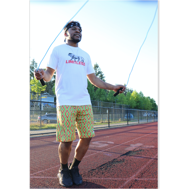 Lion T-Shirt modeled by man with jump rope - The Limitless Company