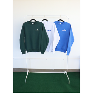 Crew neck sweaters - Forest Green, Light Bone, Royal Blue