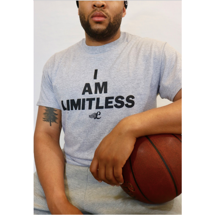 I Am Limitless Grey T-shirt - Display 1
