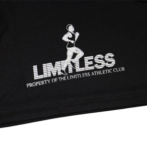 """Property of the Limitless Athletic Club"" - Black Runners Shorts available now - The Limitless Company"