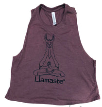 Load image into Gallery viewer, Llamaste Cropped Racerback Tank