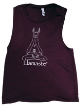 Load image into Gallery viewer, Llamaste Flowey Scoop Muscle Tank (More Colors Available)