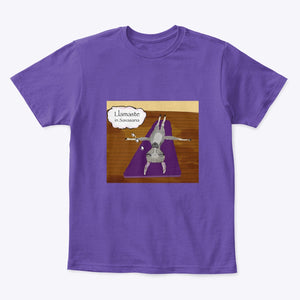 Llamaste in Savasana - Kid's T-shirt