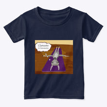 Load image into Gallery viewer, Llamaste in Savasana -  100% Cotton Toddler Yoga T-Shirt