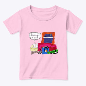 Llamaste in Bed - 100% Cotton Toddler T-Shirt