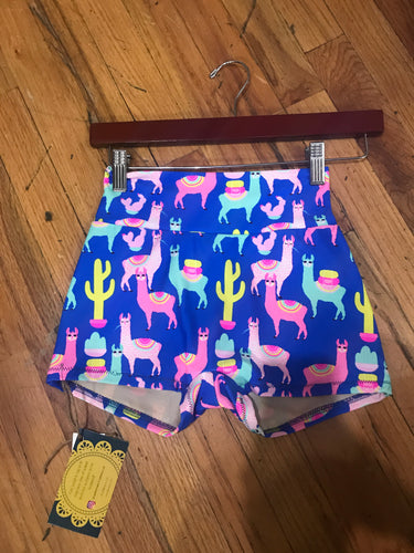 *LIMITED EDITION* Llama High Waisted Women's Yoga Shorts
