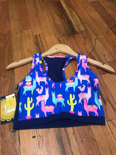 *LIMITED EDITION* Women's Llama Yoga Crop Top