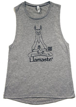 Load image into Gallery viewer, Llamaste Flowy Scoop Muscle Tank SALE (More Colors Available)