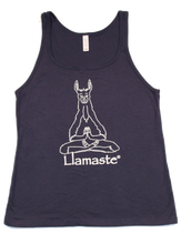 Load image into Gallery viewer, Llamaste Jersey Style Unisex Yoga Tank Top