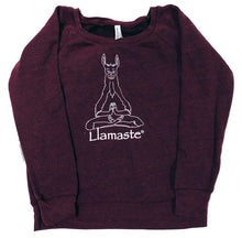 Load image into Gallery viewer, Llamaste Crew Neck Sweater