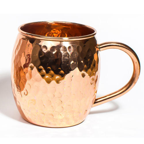 100% Pure Copper  Handmade Plain Design Mug , 500 ML
