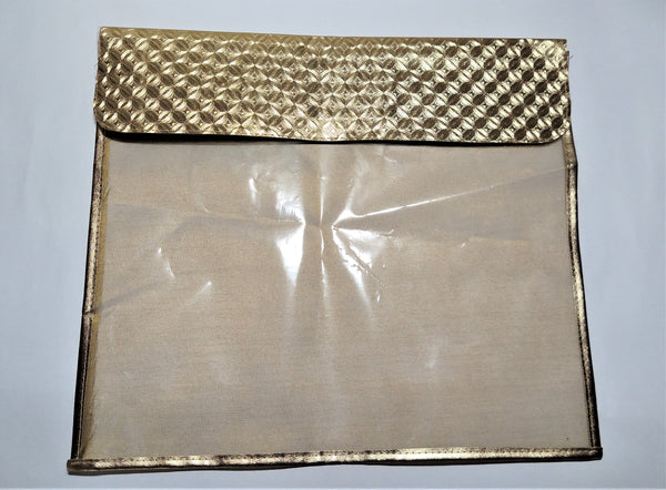 Golden Fabric Flip Saree Cover