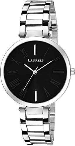 Laurels Alice II Black Dial Women Watch