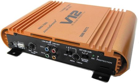 Soundwood High Effeciency Mosfet Power Two Class AB Car Amplifier